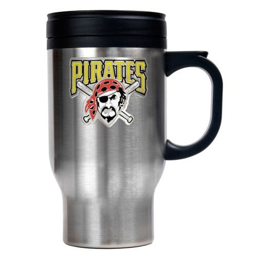 MLB Pittsburgh Pirates Stainless Steel Travel Mug (Primary Logo)