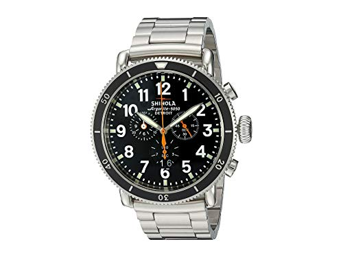 Shinola Detroit Men's The Sport 48mm - 10000090 Black/Stainless Steel