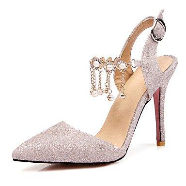 Sandalias Materiales LvYuan Morado Plata Almendra y club Mujer Stiletto Vestido Zapatos Boda del almond Personalizados Noche Fiesta Tacón xYxp7