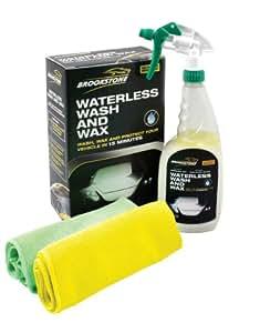 Brookstone - Kit de limpieza y encerado para coche (sin agua)