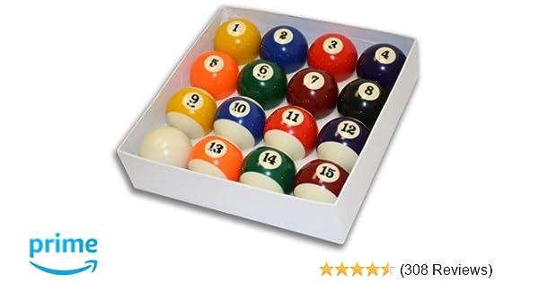 Amazon.com   Empire USA Deluxe Pool Ball Set Standard Size 2-1 4