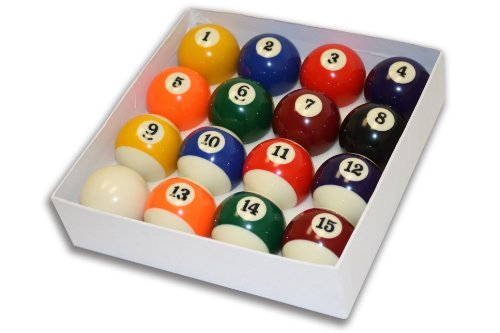 Empire USA Deluxe Pool Ball Set Standard Size 2-1/4'