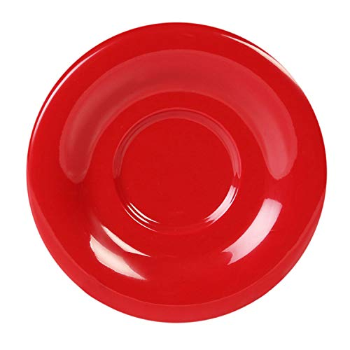 Color pure red melamine dinnerware collection 5.5 inch saucer, comes in dozen ()