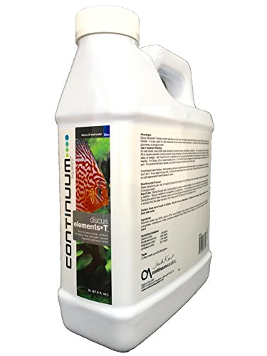 Continuum Aquatics Discus Elements-T, minor & trace mineral complex for discus, other soft water species & general freshwater fishes, 2 Liter