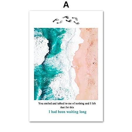 Llltyed Mer Bleu Clair Mer Rose Plage Paysage Paysage Art