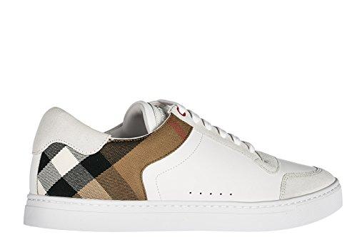 Burberry Scarpe Sneakers Uomo in Pelle Nuove Bianco