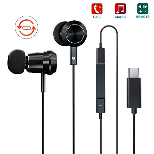 USB C Headphones CTXTKER Type c in-Ear Earphones with Mic & DAC Water Resistant Noise Isolation Earbuds for Google Pixel 3/2/XL, 2018 iPad Pro, Essential PH1 and More USB C Devices