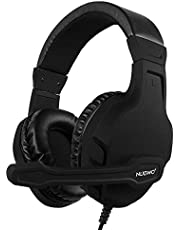 NUBWO U3 3.5mm Gaming Headset for PC, PS4, Laptop, Xbox One, Mac, iPad, Nintendo Switch Games, Computer Game Gamer Over Ear Flexible Microphone Volume Control with Mic Black