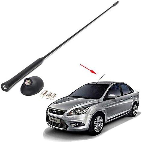 LSYBB Antena Mástil Auto Negro con Kit de Base Antena ...