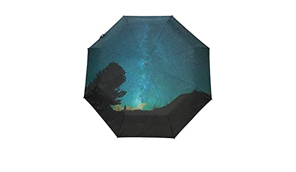 f1c746211e79 Amazon.com : OuLian Umbrella Stars Night Tree Golf Travel Sun Rain ...