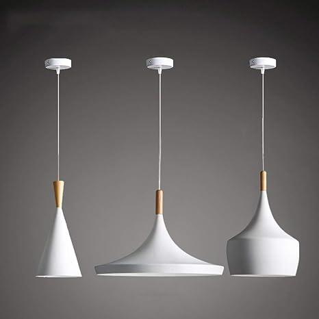 Yjlight Lampe Suspension Moderne En Bois Metal Lampe
