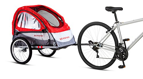 Schwinn Trailblazer Single Bike Trailer with Quick-Release Wheels, 16' Wheels