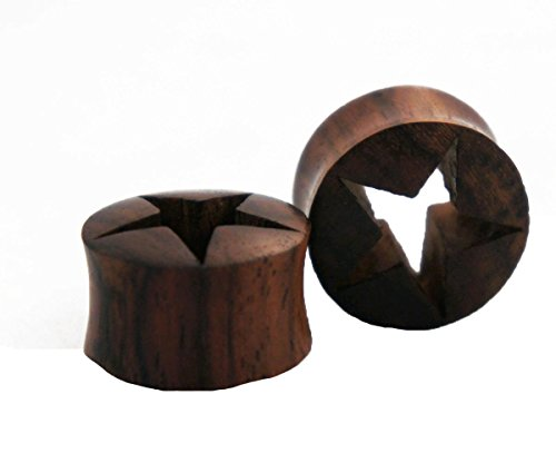 Bandaru Organics Sono Wood Star Flesh Tunnel