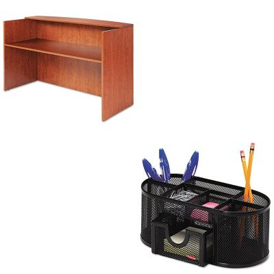 KITALEVA327236MCROL1746466 - Value Kit - Best Valencia Series Reception Desk w/Counter (ALEVA327236MC) and Rolodex Mesh Pencil Cup Organizer (ROL1746466)