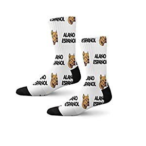 Funny Mens Socks Alano Espanol Dog Breed Style A Polyester Crazy Socks Womens 16