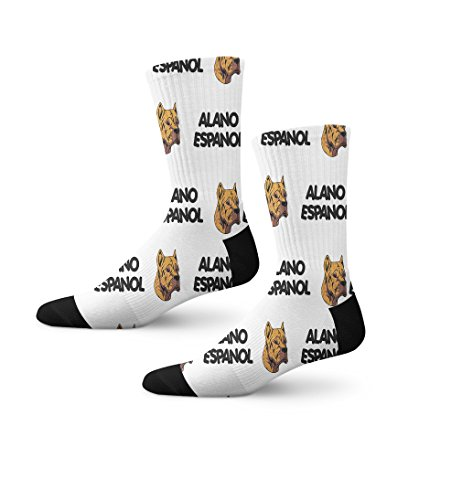 Funny Mens Socks Alano Espanol Dog Breed Style A Polyester Crazy Socks Womens 1