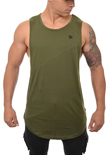 7100964d9db86 YoungLA Long Tank Tops for Men Muscle Shirt Bodybuilding Gym Athletic  Training Sports Everyday Wear 306