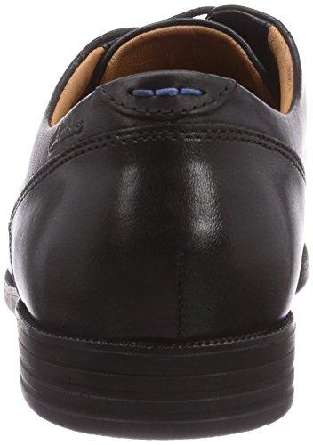 Clarks Glenrise Walk - Zapatos con cordones de cuero hombre Negro (Black Leather)