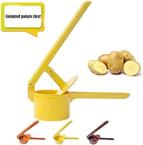 Stainless Steel Potato Ricer Kitchen Press Large Baby Food Strainer Vegetable Press 3 Colours Amazon De Kuche Haushalt