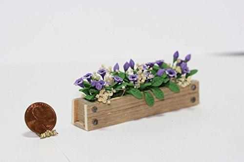 大流行中! ドールハウスミニチュアパープルcupflowers木製のフラワーボックス   B01DL4PQZU, art of Life:c7eb2ca4 --- diceanalytics.pk