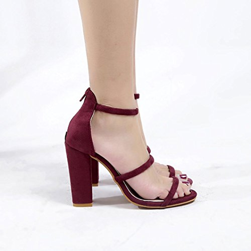 Red Rubbing Zip Summer Ankle Heels Beach Foot Block Wedges Sandals Flat Shoes High Sandals Women Fish Footwear Mouth Comfortable Shoes No Ladies Flop Sandal Toes Toe Flip Open Party rXnqfSwX