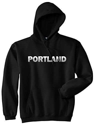 Portland Oregon State City Pullover Hoody Medium - Fashion Portland Mens