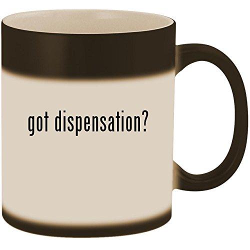 got dispensation? - 11oz Ceramic Color Changing Heat Sensiti
