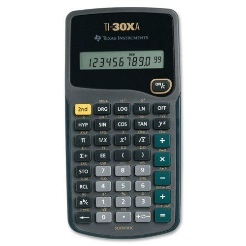 TEXTI30XA - Texas Instruments TI-30Xa Scientific Calculator