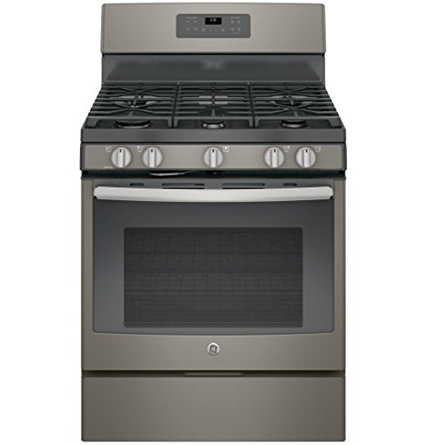 GE 5.0 Cu. Ft. Self-Cleaning Freestanding Gas Range Slate JGB660EEJES