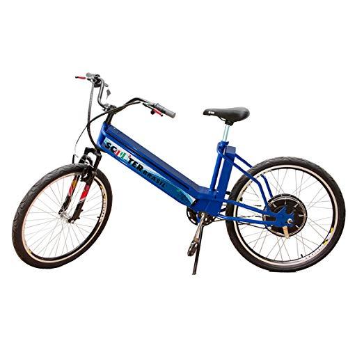 Bicicleta Elétrica MTB 800W 48V 12Ah Azul