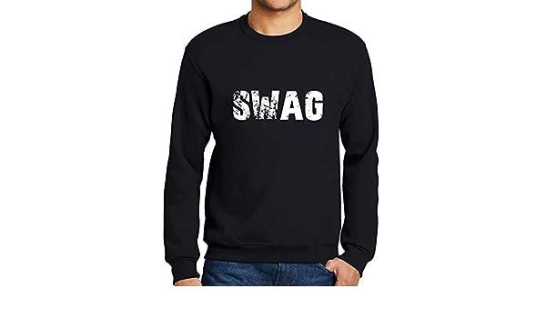 Ultrabasic Hombre Sudadera Estampada Popular Words Swag Negro Profundo: Amazon.es: Ropa y accesorios