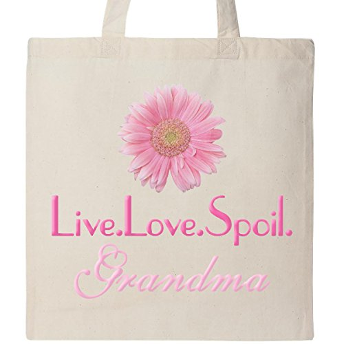 Inktastic - Live.Love.Spoil.Grandma Tote Bag Natural 1850d