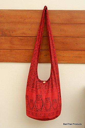 Cross OF10 Boho Messenger Purse BTP Owl Sling Red Large Hippie Shoulder Bag body 17OaqIx