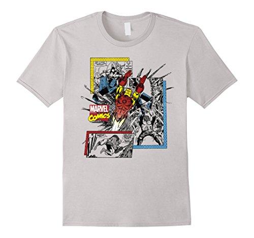 Marvel+Comics+Retro+Shirt Products : Marvel Comics Iron Man Classic Retro Panels Graphic T-Shirt