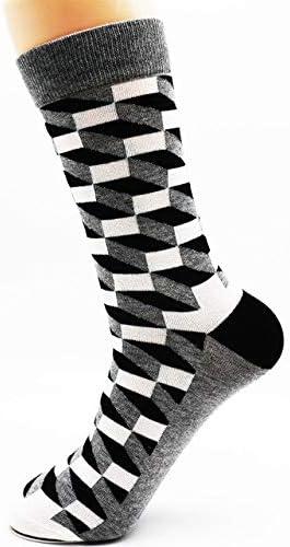 XWASOCK Hip-Hop Mens Colorful Dress Calcetines de algodón Funky ...