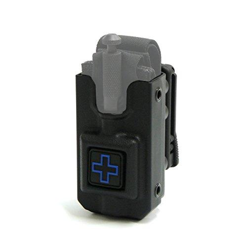RIGID SOFTT Wide Tourniquet Case, Belt (Tek-Lok) Attachment, Black with BLUE CROSS (Tourniquet Not Included)