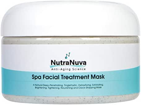 NutraNuva Face Food Natural Anti Aging Spa Facial Mask VEGAN – Exfoliate, Deep Cleanse, Nourish, Brighten, Moisturize for Smooth, Soft, Clear, Glowing Skin – More Collagen, Fights Acne, Puffiness 4 oz