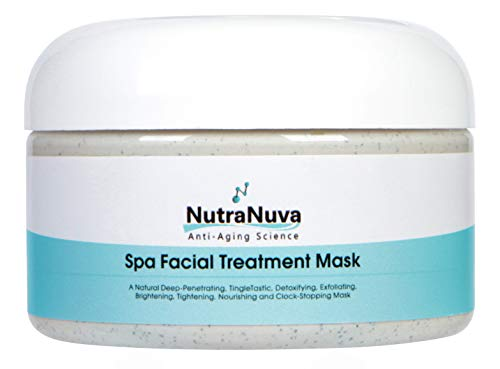 NutraNuva Face Food Natural Anti Aging Spa Facial Mask VEGAN – Detoxify, Exfoliate, Nourish, Brighten, Moisturize for Smooth, Soft, Clear, Glowing Skin – More Collagen, Fights Acne, Puffiness, 4 oz.