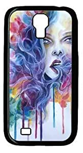 Abstract With Breath Life Gives A New Creation Customized Hard Shell Black Samsung Galaxy S4 I9500 Case On Custom Service