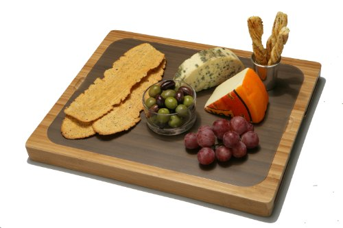 Seville Classics Easy To Clean Bamboo Cutting Board And 7