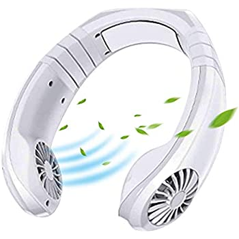 promise2167 Mini Portable USB Air Conditioner Fan, Hanging Neck Air Cooler Smart Sport USB Fan, Hanging Neck Cooler Physical Cooling, Travel Wearable Necklace Fan