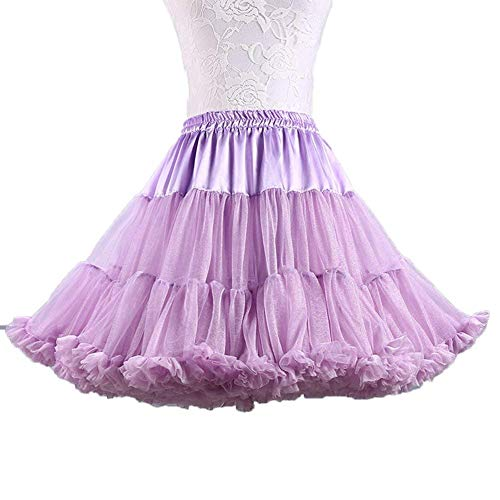 Ab.Mall Femmes Tutu Ballet Costume Jupe Luxueuse Douce Tulle Jupon Multi-Couches Violet