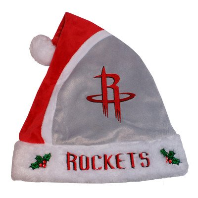 Forever Collectibles NBA Houston Rockets Santa Hat, One Size, Red
