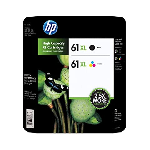HP 61XL Black and 61XL Color Combo (Hp Ink 61 Color And Black)