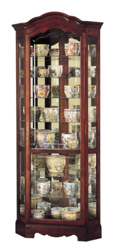 Howard Miller 680-249 Jamestown Curio (Corner Style Curio Display Cabinet)