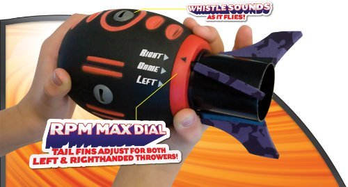 Geospace FLY MAX Football with RPM Turbine Technology, Adjustable for Right- or Left-Handed Throwers (Fly Max Football)
