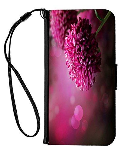 Case Dahlia Black (Rikki Knight Purple Dahlia Autumn Flower Design iPhone 6 & 6s PU Wallet Flip Case with Kickstand and Magnetic Flap - Black)