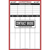 Contract Bridge 110 Game Score Record Sheet Notebook: Rubber Bridge Scoring Pad Journal with Score Keeper Rules on Back…