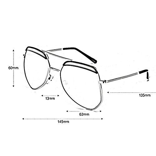sol de de de Gafas ZHIRONG de Gafas la irregular sol la de de luz de Gafas la polarizada la la de 06 aire lib alta la al sol de viaje de de sol moda definición personalidad de protección pareja las gafas q0w5w4a