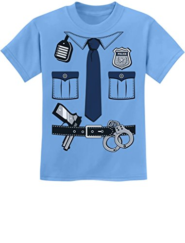 [Police Cop Uniform Halloween Costume Policeman Outfit Suit Youth Kids T-Shirt X-Large California] (Policeman Uniform)